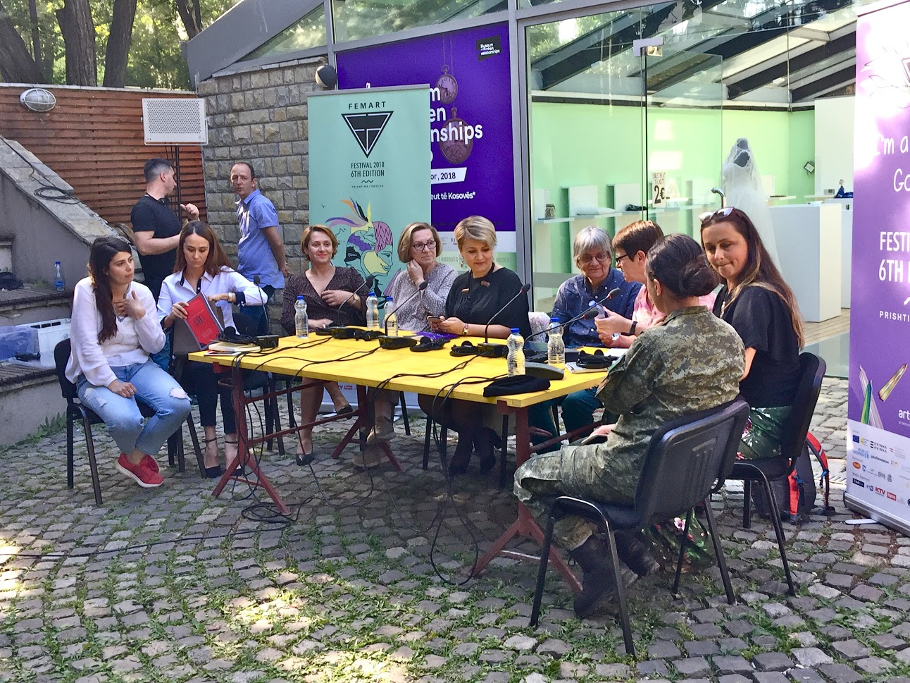 Table discussion at FemArt Festival, Kosovo