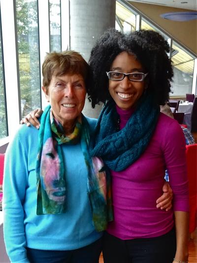 Dagmar and Dr. Alexis Pauline Gumbs in Victoria Oct. 16